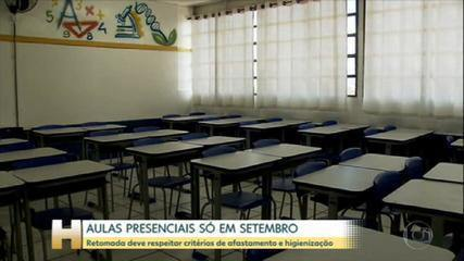 Aulas no estado de SP serão retomadas em setembro com rodízio de alunos