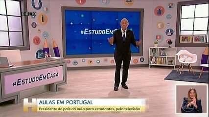 Presidente de Portugal dá aula pela TV