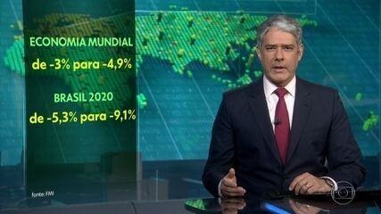 FMI prevê recessão mais profunda para a economia mundial e para a brasileira