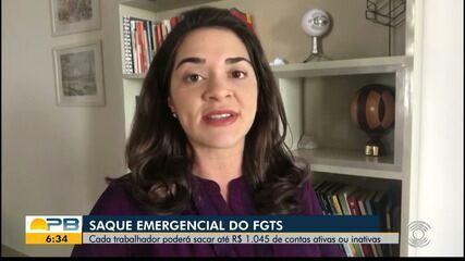 Saque emergencial do FGTS; cada trabalhador poderá sacar até R$1.045 reais