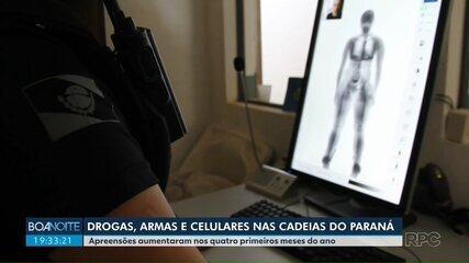 Apreensões de drogas e celulares em unidades prisionais aumentam no Paraná