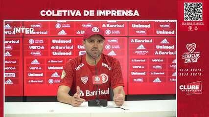 Veja a entrevista coletiva do técnico do Inter Eduardo Coudet desta sexta-feira