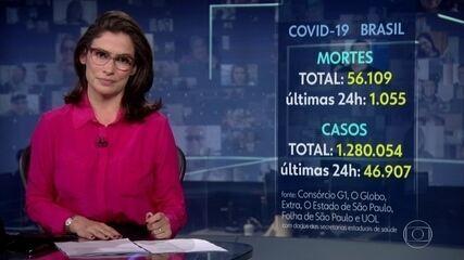Brasil tem 56.109 mortes pela Covid-19, aponta consórcio de veículos de imprensa