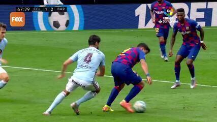 Os gols de Celta de Vigo 2 x 2 Barcelona pelo Campeonato Espanhol
