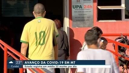 Mato Grosso tem a maior média diária de mortes por Covid-19 no Centro Oeste em junho
