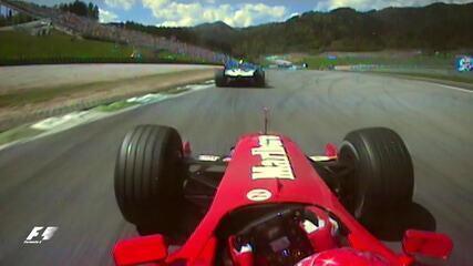 Schumacher e Montoya se estranham no GP da Áustria de 2001