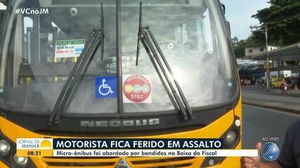 Motorista de micro-ônibus fica ferido após sofrer tentativa de assalto
