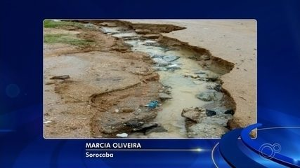 Após chuva, cratera se forma em rua de Sorocaba