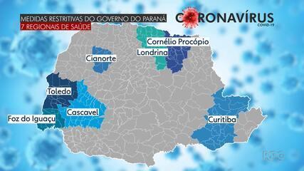 Governo anuncia quarentena restritiva em sete regionais de Saúde do Paraná