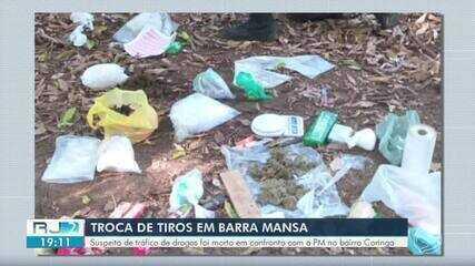 Suspeito de tráfico de drogas é morto durante confronto com a PM em Barra Mansa
