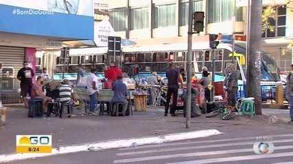 Há movimento em Goiânia apesar de novo decreto