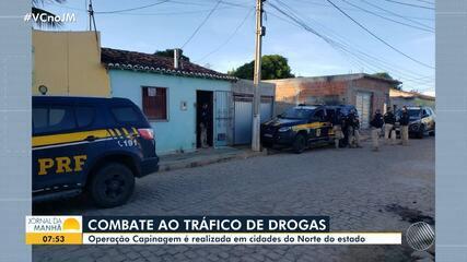 Polícia faz operação de combate ao tráfico de drogas em cidades do norte do estado