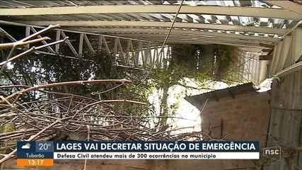 Lages decreta situação de emergência