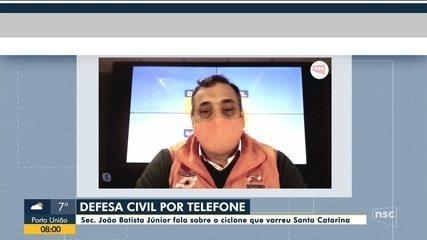 Secretário de Defesa Civil de SC fala sobre impactos do ciclone em Santa Catarina