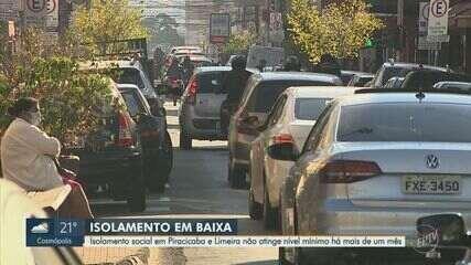 Isolamento social em Piracicaba e Limeira não atinge nível mínimo há mais de um mês