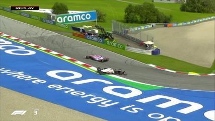 Romain Grosjean erra e sai da pista no treino livre para o GP da Áustria