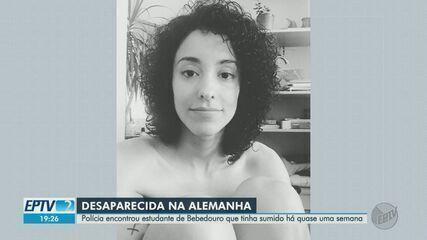Estudante brasileira desaparecida na Alemanha é encontrada com vida, diz polícia local