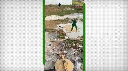 Darlan Romani faz treino improvisado em terreno baldio em Bragança Paulista