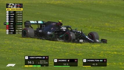 Bottas escapa na pista e mesmo assim garante a pole na Áustria