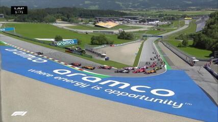 Confira a largada do GP da Áustria de F1