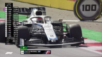 Grosjean e Russell têm problemas no GP da Áustria