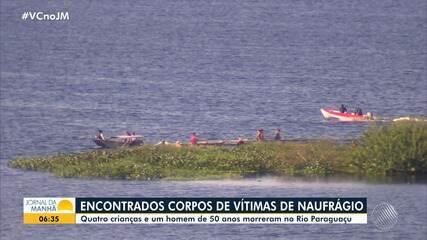 Bombeiros encontram corpos de vítimas de naufrágio em Cabaceiras do Praguaçu