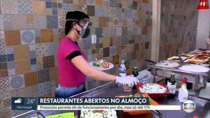 Restaurantes voltam a funcionar na capital paulista a partir desta segunda (6)