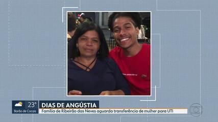 Família de Ribeirão das Neves aguarda leito em UTI há quase uma semana