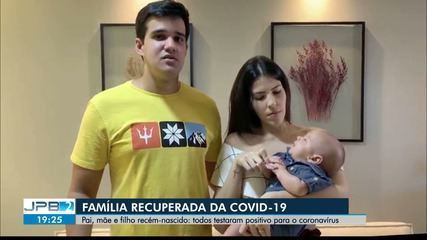 Pai, mãe e bebê se recuperam da Covid-19
