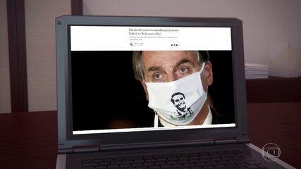 Facebook investigou apenas mensagens e posts divulgados nas páginas removidas