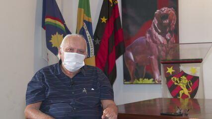 Milton Bivar fala sobre como é gerir o clube na pandemia; Imagens: Emerson Paixão