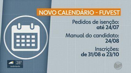 Fuvest anuncia mudança no calendário do vestibular