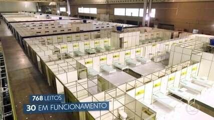 Governo de Minas inaugura hospital de campanha em BH, mas só com 4% da capacidade