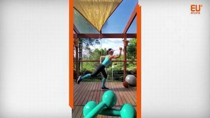 Gerseli Angeli mostra cinco exercícios para tonificar a musculatura das pernas