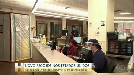 Estados Unidos registram 67 mil casos de Covid-19 em apenas um dia