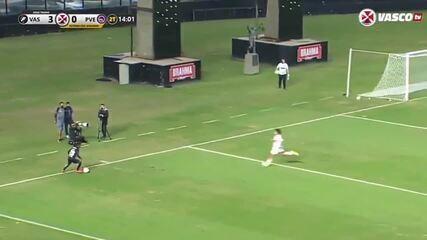 O segundo gol de Fellipe Bastos, do Vasco, em jogo-treino contra o Porto Velho