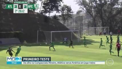 Atlético-MG vence América-MG em jogo-treino, por 3 a 2