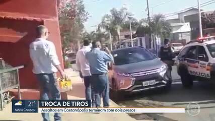 Dois homens são presos após assalto em Caetanópolis