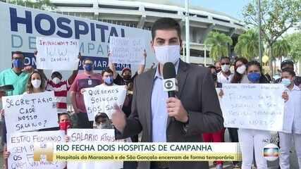 Hospitais de campanha do Maracanã e de São Gonçalo fecham, provisoriamente, no Rio