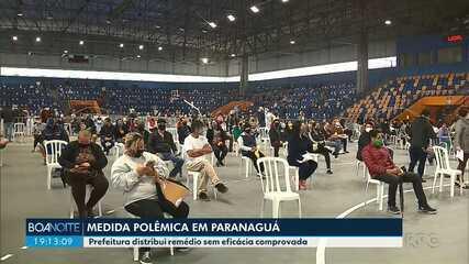 Prefeitura de Paranaguá distribui remédio sem eficácia comprovada contra o coronavírus