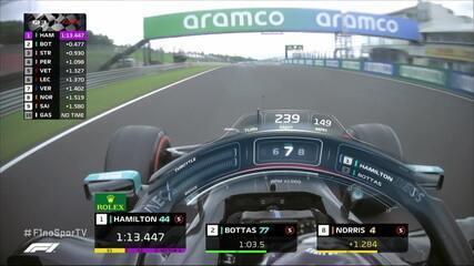 Com 1:13:447, Hamilton quebra próprio recorde e consegue a 90ª pole position da carreira