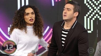Marcos Veras e Giovana Cordeiro acertam campainha número 04