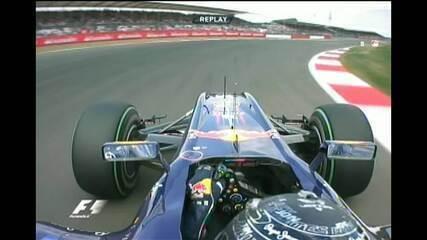Pole position de Sebastian Vettel no GP da Inglaterra de 2010