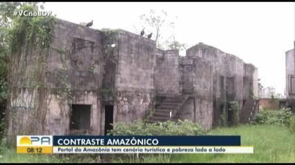 Portal da Amazônia tem cenário triste de pobreza lado a lado