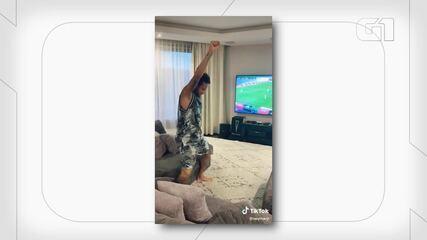 Neymar faz dancinha no TikTok com remix de 'Sentadão', do Bonde das Tequileiras