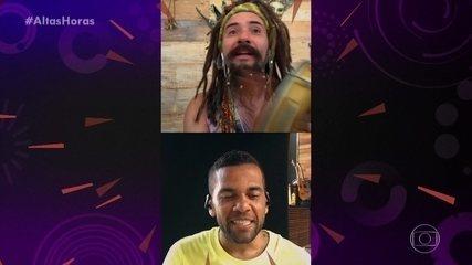Mustafary bate-papo com Daniel Alves