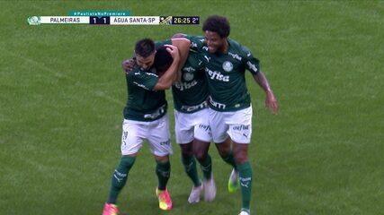 Gol do Palmeiras! Marcos Rocha cruza na cabeça de Ramires