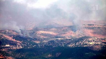 Exército de Israel reporta 'combates em curso' na fronteira com o Líbano