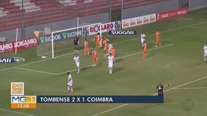 Veja os gols da vitória do líder Tombense sobre o Coimbra