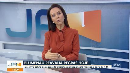 Blumenau reavalia restrições nesta segunda-feira